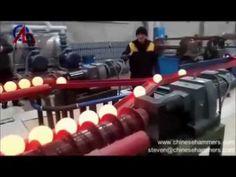 esfera de aço de inclinação laminador, processo de produção de esferas d...