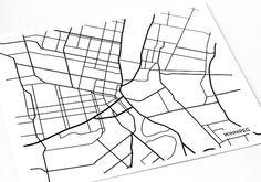 Winnipeg city map art, $18USD