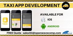 Buy or Develop to Accelerate Your Taxi Business. Openwave Computing Being One of The Top in Singapore. We Help Your Travelers with Easy Booking Feature. Connect with Now. Iphone App Development, Mobile App Development Companies, Mobile Application Development, Cab App, Taxi, Android Apps, Singapore, Connect, Ios