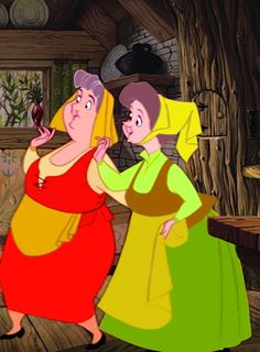Sleeping Beauty Gorgeous- Flora & Fauna -  in cottage - Disney's greatest animation achievement! ~`shopowerreviews.com