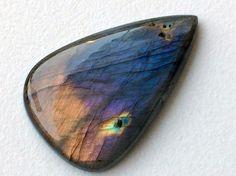 Labradorite Plain Pear Shape Cabochon Rare Purple by gemsforjewels