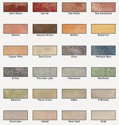 Valspar Semi-Transparent Concrete Stain colors for a natural stone look.