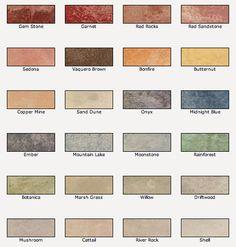 Valspar Semi-Transparent Concrete Stain colors for a natural stone look.