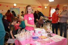 Amy with lots of goodies for sale at the Thurrock Volunteer Group coffee morning which raised £1,500.46! Find out more at www.facebook.com/thurrockbcc or on twitter @thurrockbcc #raffle #breastcancer #volunteers  # fundraising