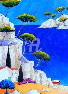 ' Painting by Juliana Pioch. Art Gallery, Jr Art, Art En Ligne, Fauvism, Art Original, Gustav Klimt, City Art, Paint By Number, Painting Inspiration