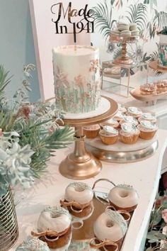 Feast your eyes on this gorgeous 80th birthday party! The party party food is wonderful! See more party ideas and share yours at CatchMyParty.com Donut Party, Party Party, Party Cakes, Party Ideas, Tea Party Birthday, 80th Birthday, Bridal Shower Cakes, Baby Shower Cakes, Food Ideas