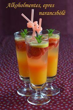 Hankka: Alkoholmentes epres narancsbólé Cocktail Drinks, Cocktails, Diy Food, Sorbet, Drinking Tea, Herbalism, Smoothies, Recipies, Beverages