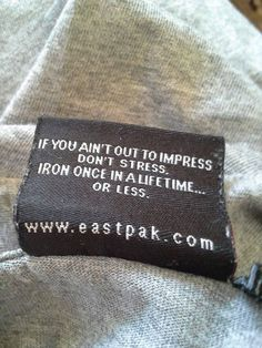 Funny Tags On The Clothes - #2