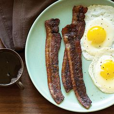 Coffee and Brown Sugar Bacon | Time: 40 minutes. Everyone loves waking up to the smell of coffee and the smell of bacon, and the flavors are pretty awesome together too. Add some molasses-y brown sugar, and you'll reach bacon nirvana.