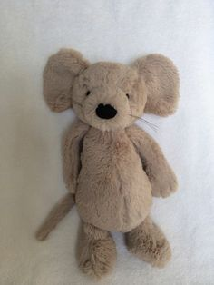 "Jellycat Bashful Mouse 12"" Plush Stuffed Animal Grey Medium Lovey Stuffed Toy | eBay"