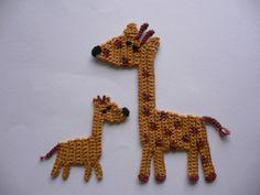 Häkelapplikationen - Giraffe - Häkelapplikation - ein Designerstück von Spielkiste bei DaWanda
