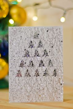Christmas gift card, christmas tree, boże narodzenie, kartka, DIY