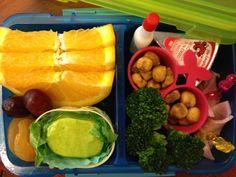 J's school snack baon- Orange slices, polvoron, dried apricots, broco with ranch, cornics, keso, ham rolls. O diba??!! Ang arte!
