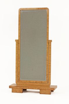 A German Art Deco burr maple cheval mirror, with rectangular bevelled glass, on block feet, stamped DRGM Estimate Cool Picture Frames, Floor Mirrors, Art Deco Bedroom, Cheval Mirror, Art Deco Mirror, Art Deco Furniture, Mirror Ideas, Art Deco Fashion, Wood Working
