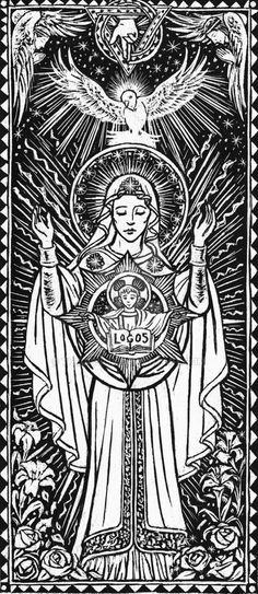 """""""Magnificat"""" Scratchboard by Theophilia"""