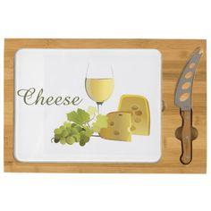 Wine and Cheese Design Cheese Board Rectangular Cheese Board