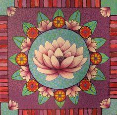 Lotus mandala by Sonia Koch Flower Mandala, Lotus Flower, Lotus Mandala, Sacred Lotus, Indian Folk Art, Buddha Art, Posca, Mexican Art, Mandala Design