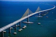 florida   Sunshine Skyway Bridge - Tampa Bay, Florida