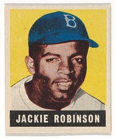 Jackie Robinson, Brooklyn Dodgers, from Baseball's Greatest Stars (R401-1), no. 79