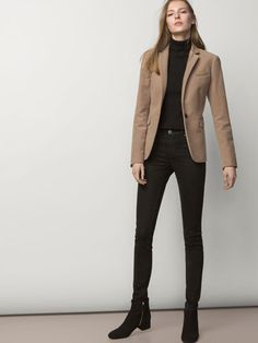 P & D FASHION REQUEST recommends Camel Blazer style advice MassimoDutti camel black black women style tip Women Fashion Casual Work Outfits, Business Casual Outfits, Business Attire, Mode Outfits, Office Outfits, Work Attire, Work Casual, Casual Chic, Fall Outfits