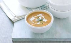Mary Berry and Lucy Young special: Sweet potato soup with cumin and ginger Yummy Mummy, Yummy Food, Mary Berry, Sweet Potato Soup, Soups And Stews, Soup Recipes, Berries, Potatoes, Healthy