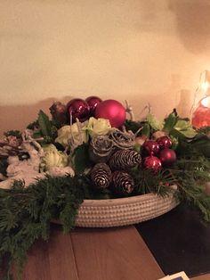 Kerststuk van Marlous gekregen