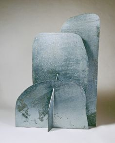 """Isamu Noguchi with Gemini G., """"Cloud Mountain,"""" galvanized steel, Gift of Mr. Roger P. Abstract Sculpture, Sculpture Art, Abstract Art, Cardboard Sculpture, Isamu Noguchi, National Gallery Of Art, Organic Form, Pottery Designs, High Art"""
