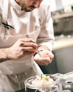 """VERA PURE (@vera.pure) on Instagram: """"How beautiful dishes are made ~ in photo ~ preparation of one of the delicacies in the SinStella glass at the Gabriel Kreuther restaurant in New York. ⠀  Photo by @farukpinjo."""""""