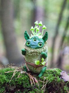 "MADE TO ORDER art toy ""Mushroom dude"" ooak doll fantasy creature by Furrykami on Etsy https://www.etsy.com/listing/249144735/made-to-order-art-toy-mushroom-dude-ooak"