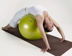 Love to get a good back stretch using a stability ball. Or do crunches, or flies and pullovers...