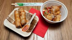 This classic Spring Roll recipe is delicious, crispy and full of flavour and a great takeaway alternative! Appetizer Dishes, Finger Food Appetizers, Appetizer Recipes, Cooking Chinese Food, Asian Cooking, Masterchef Recipes, Chicken Spring Rolls, Sweet Chilli Sauce, Appetisers