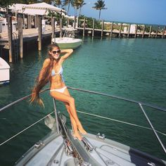 "Model Volkosh Long Hair Girl on Instagram: ""⚓️ #VOLKOSH tbt #Miamibeach @gb91 #fisherisland #body #slim #hairstyle #hairgoals #boat #bikini #rapunzel #fit #lioness #capelli #pelo #haare #cheveux #russian #hoar #mermaid #волосы #длинныеволосы #stylist #haircut #hairstyle #nature #ocean #yacht"""