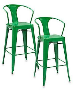 Crosley Amelia Cafe Bar Stool In Green (set Of 2) From Bed Bath & Beyond