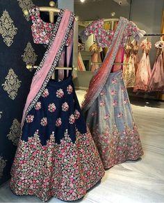 Blue and grey embroidered wedding lehenga - *# Choli *Fabric : BagaloreyWORK : EmroiderySize : XXLUNTICH CHOLI*# LEGHA *Febric : BagaloreySize&aBlue and grey embroidered wedding lehenga - *# Choli *Fabric : BangloryWORK : EmbroiderySize : Lehenga Gown, Lehnga Dress, Lehenga Blouse, Blue Lehenga, Anarkali, Lehenga Choli Latest, Patiala Salwar, Wedding Salwar Suits, Pakistani Wedding Outfits