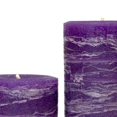 Incorporate trending amethyst purple into your decor with candles. Unscented, ideal for the dinner table or. Purple Candles, Rustic Blue, Living Room Colors, Dinner Table, Pillar Candles, Color Pop, Candle Holders, Wax, Amethyst