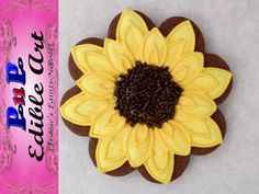 Sunflower Cookie with Royal Icing - YouTube