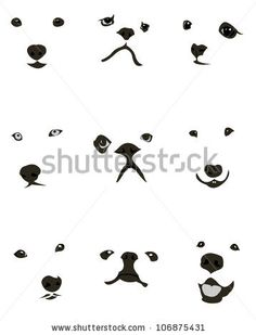 Collection of various dog breeds faces expressions. Easy editable layered vector illustration - stock vector Más