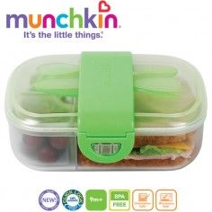 Bento Box from Munchkin - In The Playroom Toddler Meals, Kids Meals, Bento Box, Lunch Box, Snack Containers, Baby Snacks, Recipe Organization, Playroom, Work Search