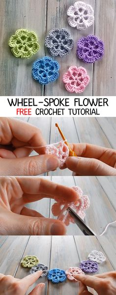 Captivating All About Crochet Ideas. Awe Inspiring All About Crochet Ideas. Crochet Flower Headbands, Crochet Puff Flower, Crochet Flower Tutorial, Crochet Bows, Crochet Hook Set, Thread Crochet, Crochet Yarn, Crochet Flowers, Crochet Purses