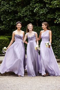 How pretty are those lavender bridesmaids dresses from Wtoo Spring 2015 collection!