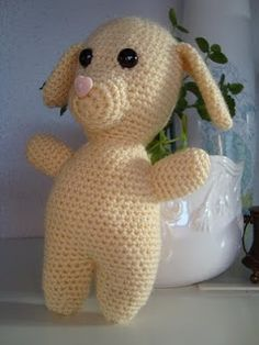 Free pattern time again! Yay! I give you... Ted!    Is he a bear? Is he a bunny? Is he a dog?! He's whatever you want him to be!!  Ted is a ...