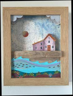 Coastal shadow box www.bridgetwilkinson.co.uk