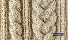 crochet cables,  tutorial and pattern