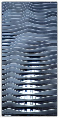 Swee Oh - Google+ - The Blue Waves Aqua Building Chicago Taken during the…