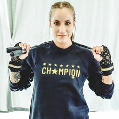 Tough week ahead? Remember you're a CH⭐️MP and you got this! Let's crush it! 💪🏼👊🏼 Check out our gold quickwraps and #ChampionHer sweatshirt on our site www.KaliActive.com  #workout #train #fitness #sweat #style