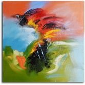 "Found it at Wayfair - Hand Painted Modern Oil Painting ""Flamenco Fury"" Canvas Wall Art"
