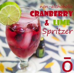 Essential Recipe: Non-Alcoholic Cranberry & Lime Spritzer | dōTERRA Blog - Essential Oils