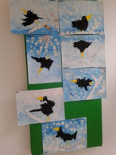 Easy Christmas Classroom Decorations you'll have to check o Fall Arts And Crafts, Winter Crafts For Kids, Art For Kids, Classroom Art Projects, School Art Projects, 8th Grade Art, Montessori Art, Bird Crafts, Kindergarten Art