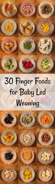 30 Finger Foods for Baby Led Weaning (BLW)
