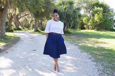 Denim Pleated Skirt: Vogue 9090 + McCalls 7542  http://www.brittanyjjones.com/home/vogue-9090